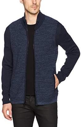 Calvin Klein Jeans Men's Long Sleeve Parallel Fisherman Colorblock Full Zip Sweater