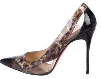 Christian Louboutin Cutout Patent Leather Pumps