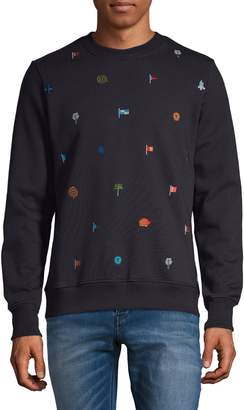 Paul Smith Embroidered Cotton Sweatshirt