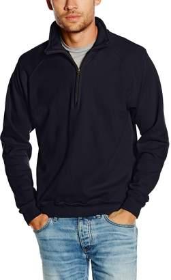 "Fruit of the Loom Mens Premium 70/30 Zip Neck Sweatshirt (L (Chest 41-43""))"