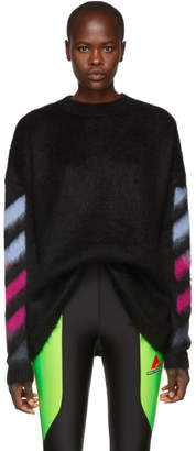 Off-White Black Mohair Gradient Sweater