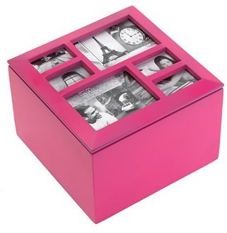 Umbra Storage Box, Photo Pink