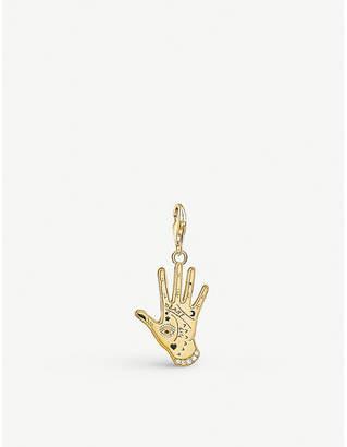 Thomas Sabo Charm club 18ct gold plated Vintage Hand pendant