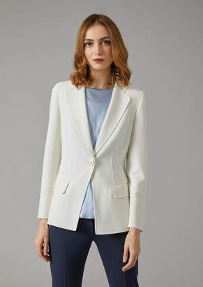 Giorgio Armani Jacket In Double Faille