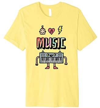 Electronic Dance Music Dancing Keyboard T-Shirt