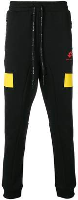 Damir Doma X LOTTO colour block detail track pants