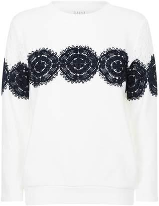 Claudie Pierlot Lace Sweater