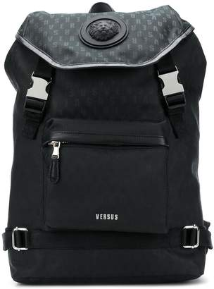 Versus buckle logo backpack