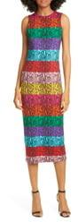 864c06240 Alice + Olivia Delora Rainbow Snake Print Dress