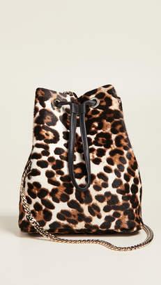 MAISON BOINET Large Leopard Bucket Bag