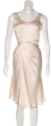 Christian Dior Drape-Accented Midi Dress w/ Tags