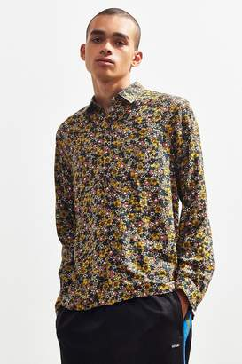 Urban Outfitters Long Sleeve Rayon Button-Down Shirt