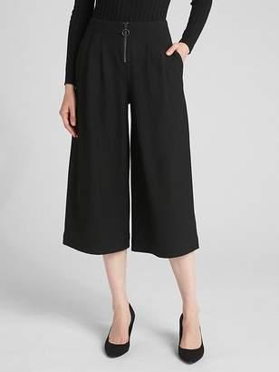 Gap High Rise Wide-Leg Crop Pants with O-Ring Zip