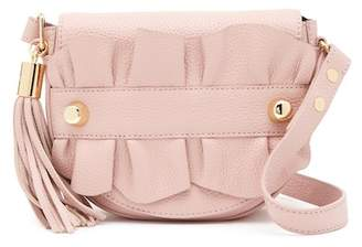 Milly Astor Small Ruffle Crossbody Saddle Bag
