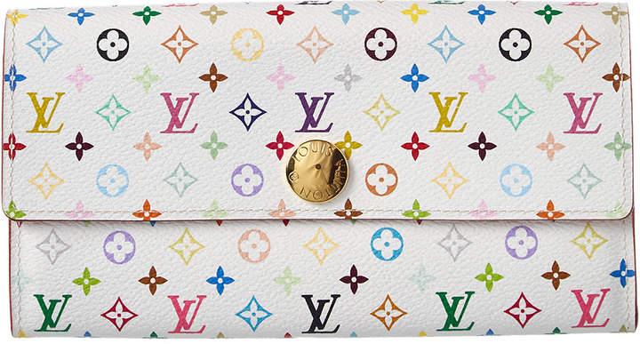 Louis Vuitton White Monogram Multicolore Canvas Sarah Wallet