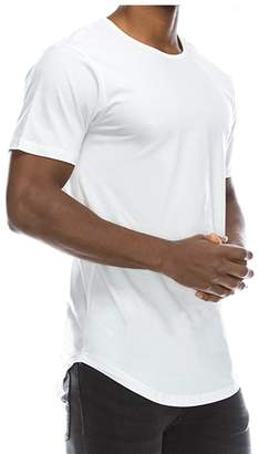 Stylish&Young Mens Casual Basic Hipster Hip Hop Round Neck Short Sleeve Slim Fit T Shirts (M, )