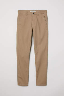 H&M Cotton Chinos Skinny fit - Beige