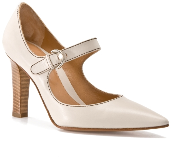 Sergio Rossi Leather Mary Jane Pump - White