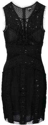 Just Cavalli fitted lace-up dress