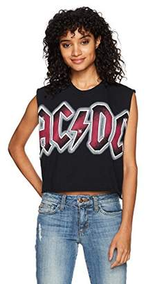 Goodie Two Sleeves Junior's ACDC Color Glow DIY Tank