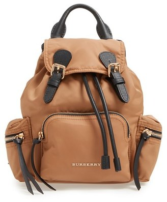 Burberry 'Small Runway Rucksack' Nylon Backpack - Beige $1,150 thestylecure.com