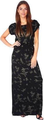 KRISP Women Boho Tie Dye Oversized Loose Jersey Maxi Summer Dress (, US 4/UK 8),[5081-NUD-08]