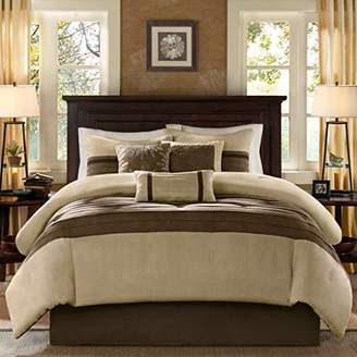 Madison Park Palmer King Size Bed Comforter Set Bed in A Bag - Taupe