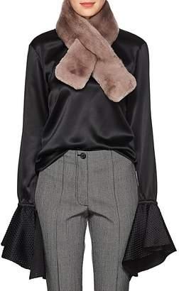 Barneys New York Women's Rabbit Fur Pull-Through Scarf