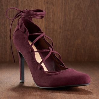 LC Lauren Conrad Runway Collection Women's Lace-Up High Heels $69.99 thestylecure.com