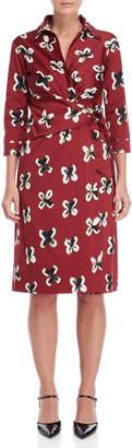 Samantha Sung Oragami Sloan Printed Dress