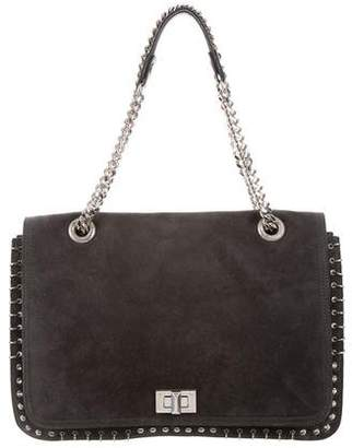 Emilio Pucci Embellished Suede Flap Bag