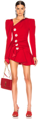 Raisa&Vanessa RAISA&VANESSA Beaded Ruffled Mini Dress in Red | FWRD