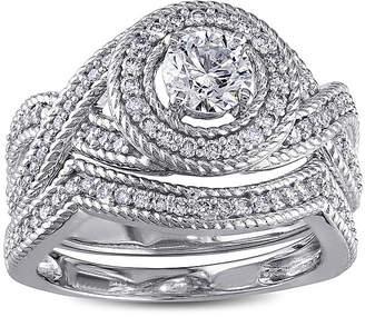JCPenney MODERN BRIDE 1 CT. T.W. Diamond 14K White Gold Bridal Ring Set
