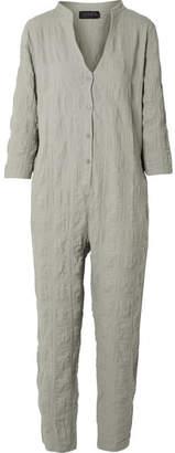 Hatch The Taylor Crinkled Cotton-blend Gauze Jumpsuit