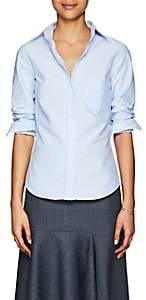 Barneys New York Women's Cotton Button-Down Shirt-Blue