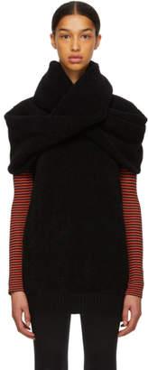 Junya Watanabe Black Twist Wrap Crewneck Sweater