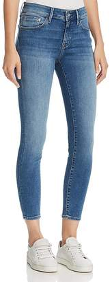 Mavi Jeans Adriana Ankle Mid Rise Super Skinny Jeans in Mid Supersoft