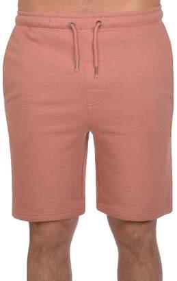 Brave Soul Mens Tarley Cotton Shorts - Pink - M