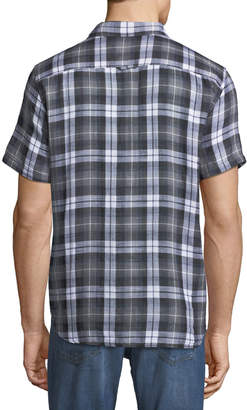 Michael Bastian Plaid Short-Sleeve Sport Shirt