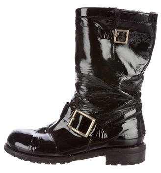 Jimmy Choo Jimmy Choo Patent Leather Moto Boots