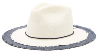 Lafayette House Of Jimmy Straw Panama Hat - Womens - Navy