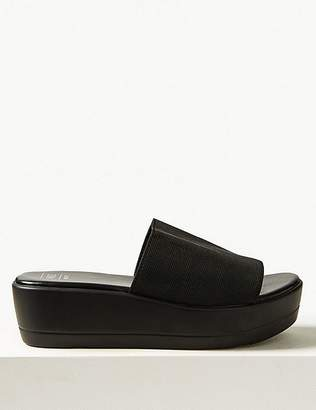 Marks and Spencer Wide Fit Wedge Heel Mule Sandals