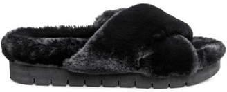 H&M Faux Fur Slippers - Black