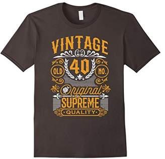 40th Vintage Birthday Gift Shirt 40 Years Old Bday T-shirt