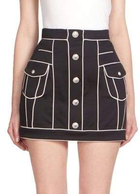 Balmain Button-Front Mini Skirt