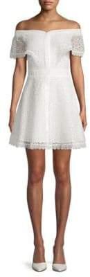 Off-The-Shoulder Lace Dress
