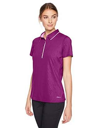 Cutter & Buck Women's Moisture Wicking UPF 50+ Emboss Short Sleeve Polo Shirt