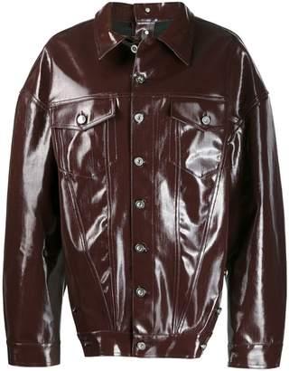 Diesel Red Tag varnished denim jacket
