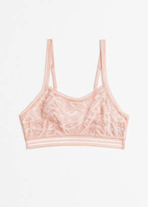 And other stories Allover Lace Bralette