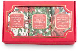 3pk Sugar & Spice Poinsettia Bar Soaps